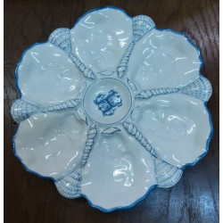 6 porcelain oil plates...