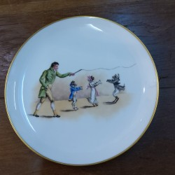 Plate the tallec 21 cm dogs...